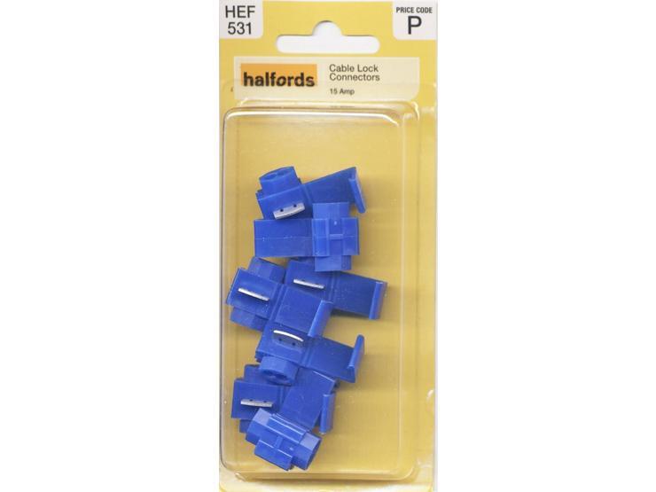 Halfords Cable Lock Connectors (HEF531) 15 Amp