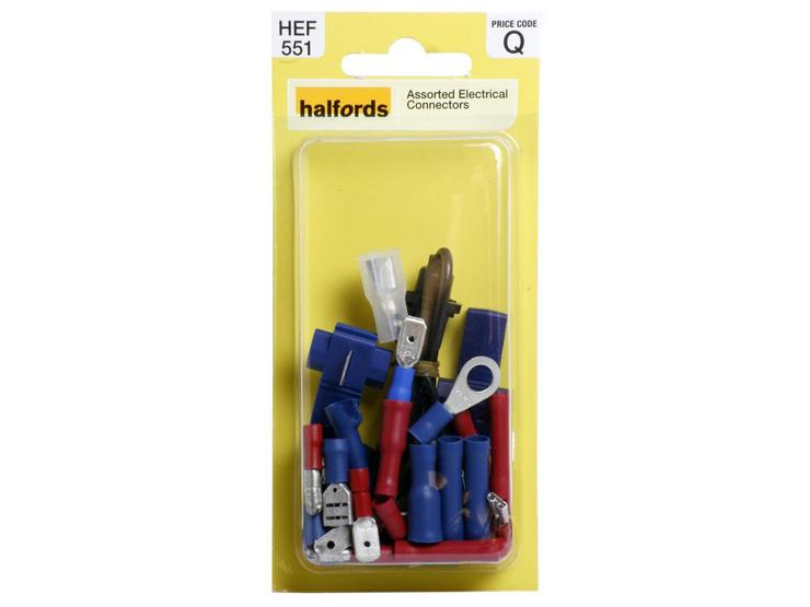 Halfords Assorted Electrical Connectors (HEF551)