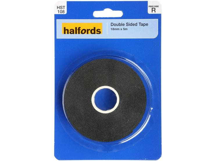 Halfords Double Sided Tape 18mm x 5m