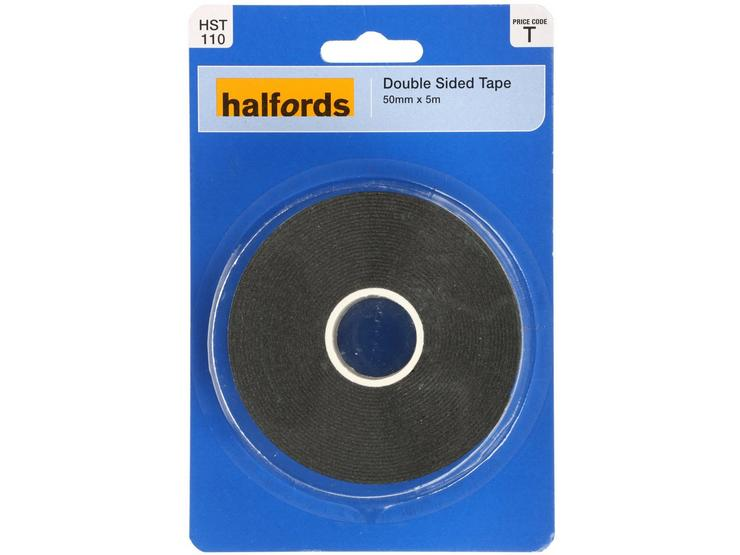 Halfords Double Sided Tape 50mm x 5m