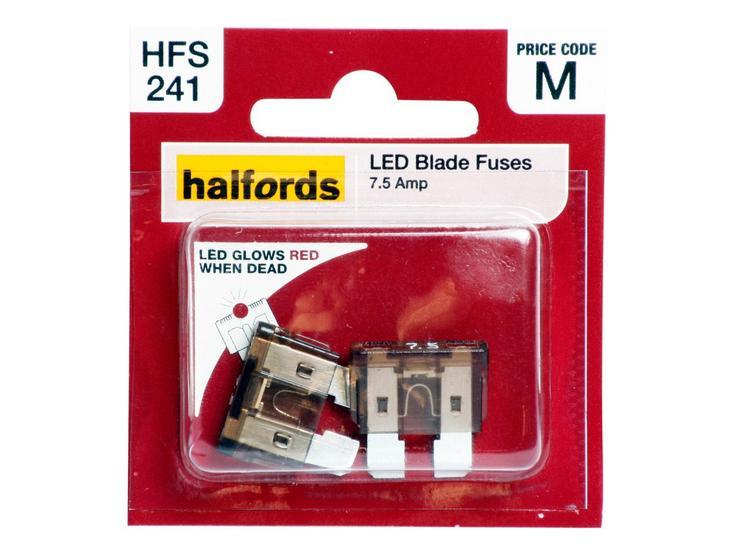 Halfords LED Blade Fuses 7.5 Amp (HFS241)