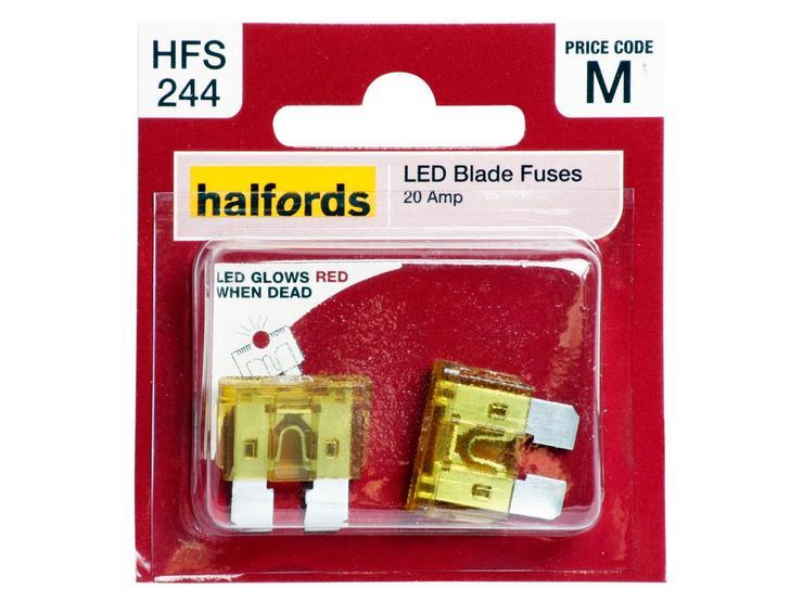 Halfords LED Blade Fuses 20 Amp (HFS244)