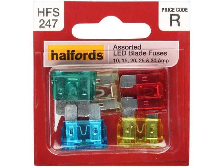 Halfords LED Blade Fuses 25 Amp (HFS245)
