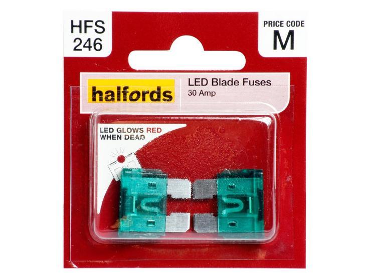 Halfords LED Blade Fuses 30 Amp (HFS246)
