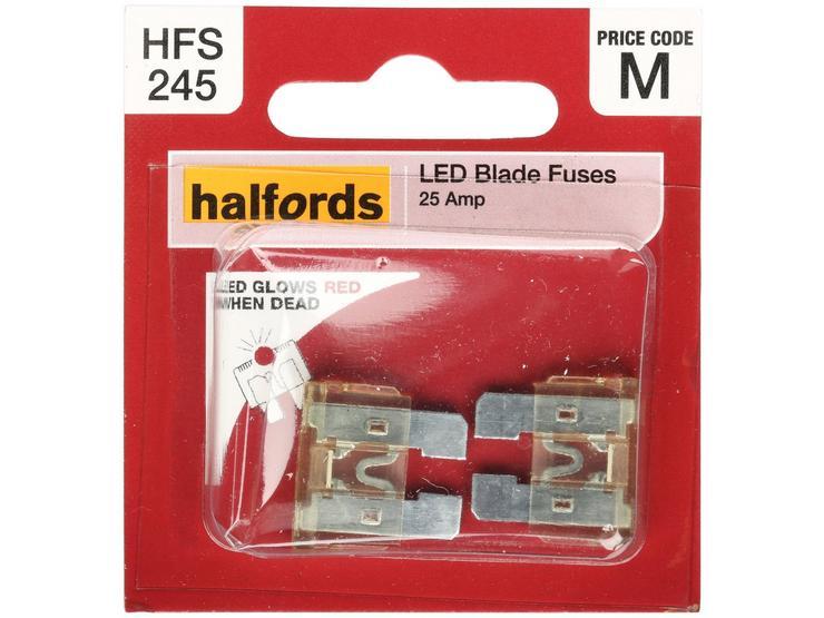Halfords Assorted LED Blade Fuses 10/15/20/25/30 AMP (HFS247)