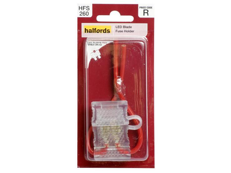 Halfords LED Blade Fuse Holder (HFS260)