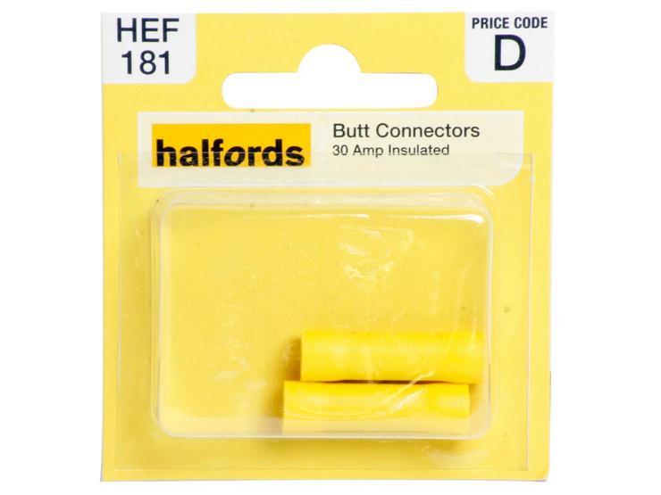 Halfords Butt Connectors 30 Amp Insulated