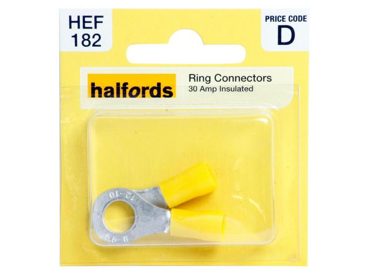 Halfords Ring Connectors 30 Amp Insulated