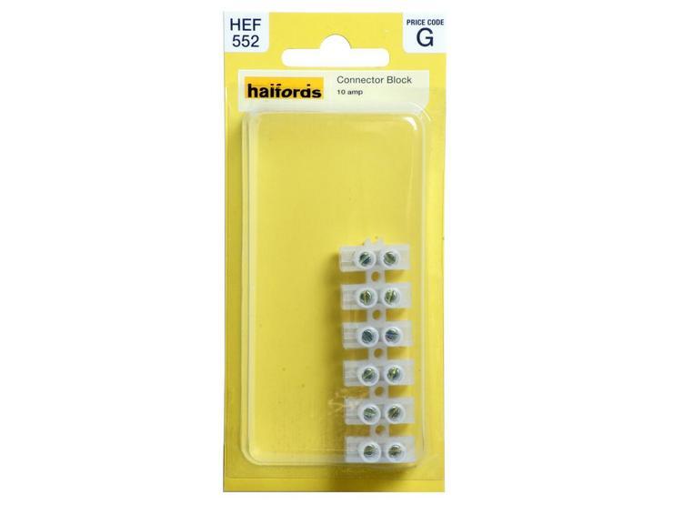 Halfords Connector Block 10 Amp HEF552