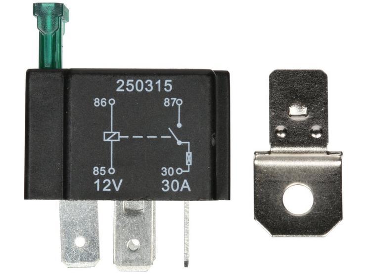 Halfords HEF553 Relay 12V 30A 4 PIN