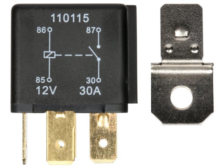 Halfords (HEF554) Relay 12v 30amp 4 Pin