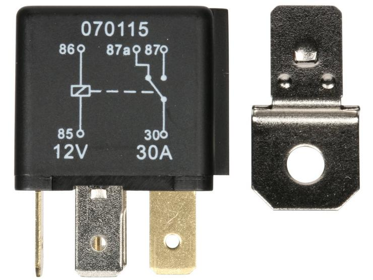 Halfords HEF557 Relay 12V 30A 5 PIN
