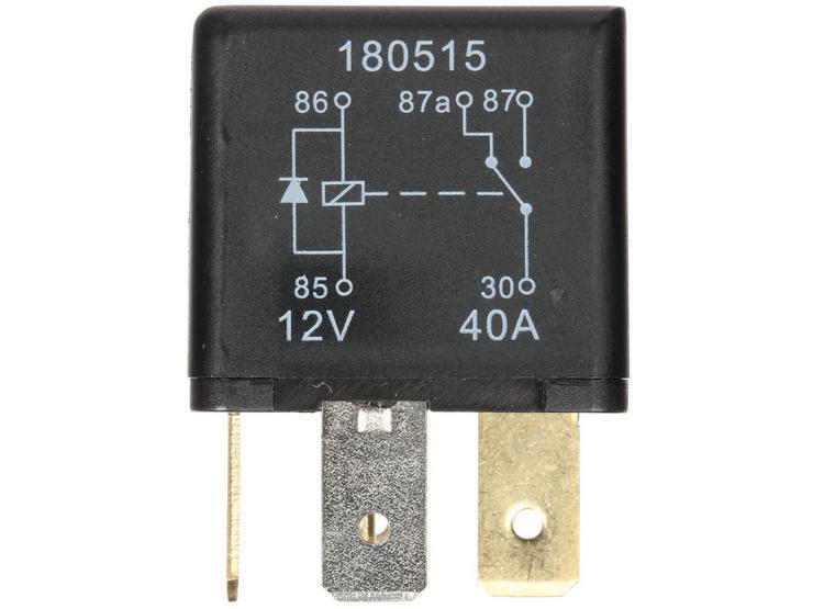 Halfords HEF559 Relay 12V 40A 5 PIN