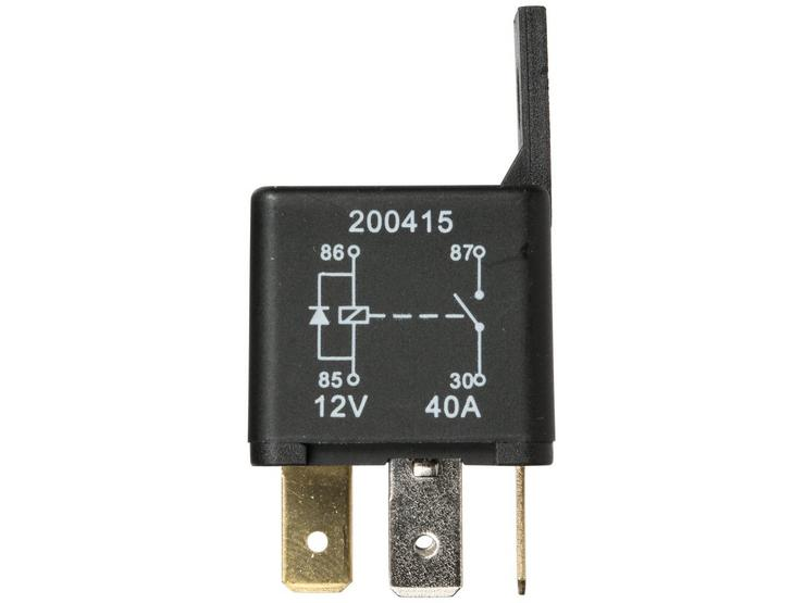 Halfords HEF560 Relay 12V 40A 4 PIN inc. diode