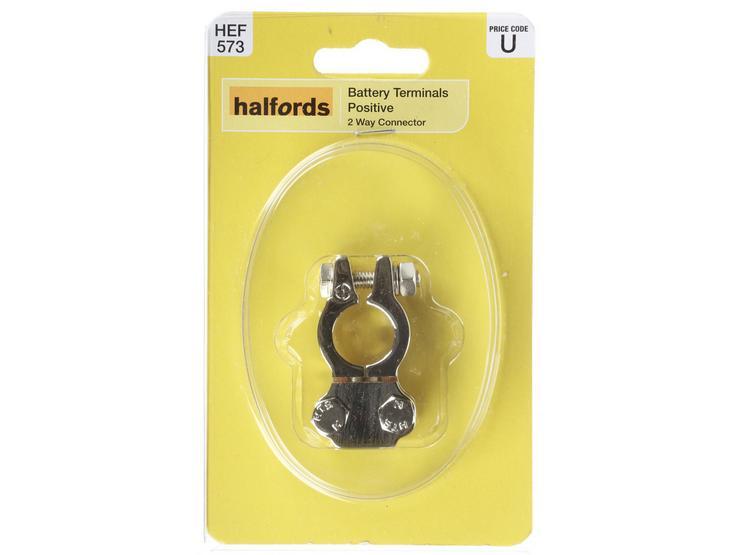 Halfords Battery Terminal Positive 2 Way Connector