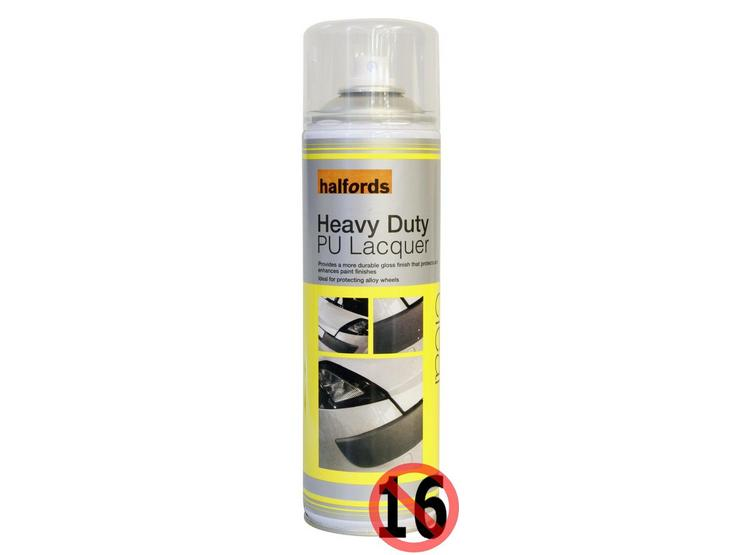 Halfords Heavy Duty PU Lacquer 500ml