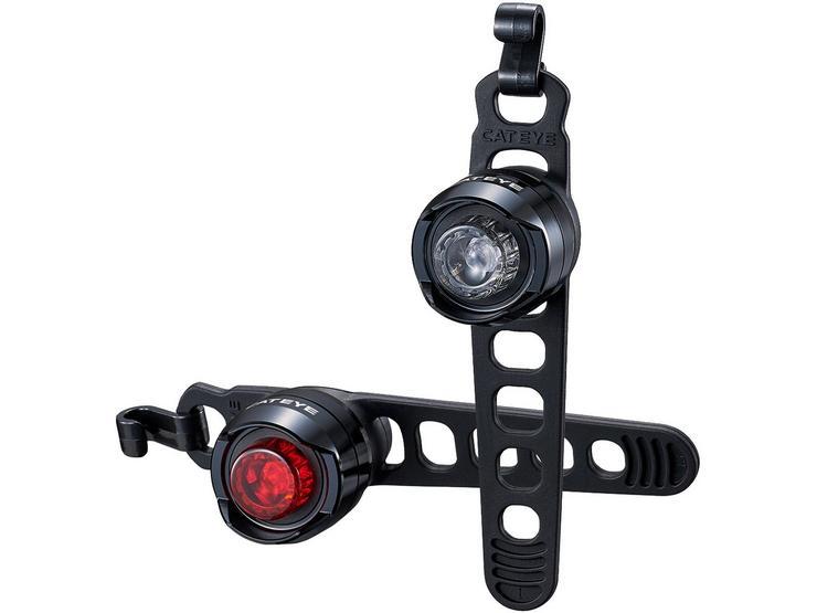 CatEye Orb Rechargeable Bike Light Set - Black