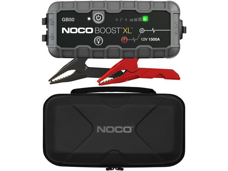 NOCO Boost GB50 1500A Jump Starter & Protective Case Bundle