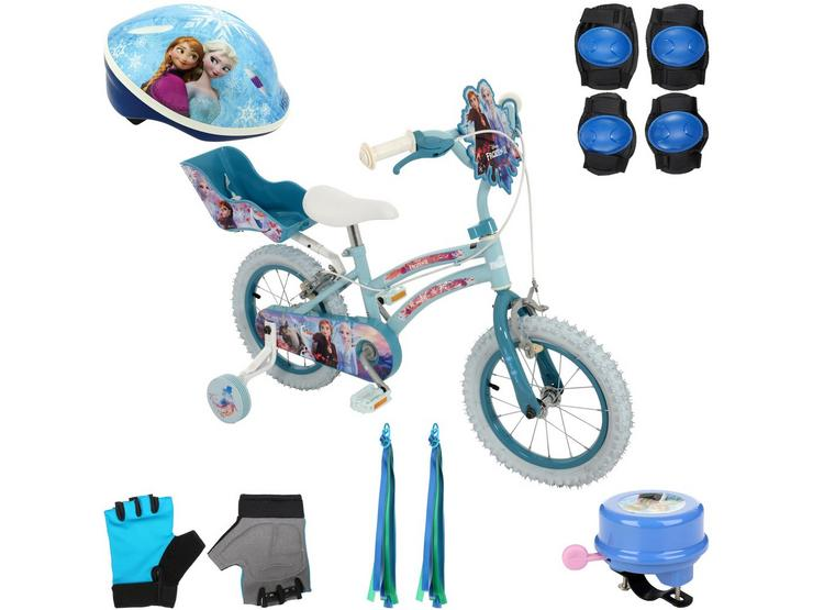 """Frozen 2 14"""" Kids Bike and your must have accessories"""