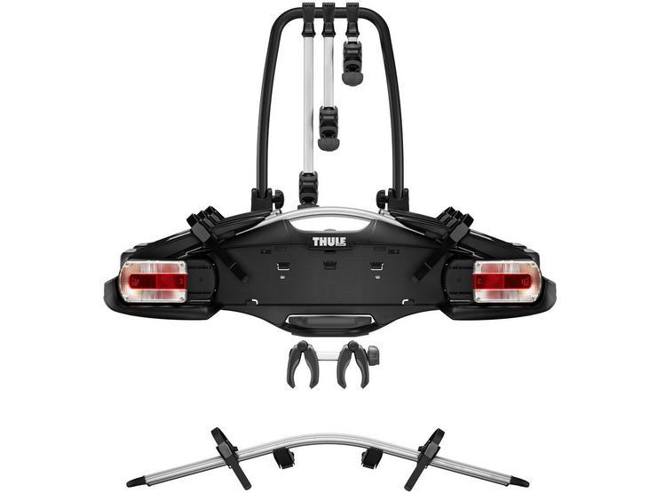 Thule VeloCompact 927 3-Bike Towbar Mounted Bike Rack & Thule 4th Bike Adaptor Bundle