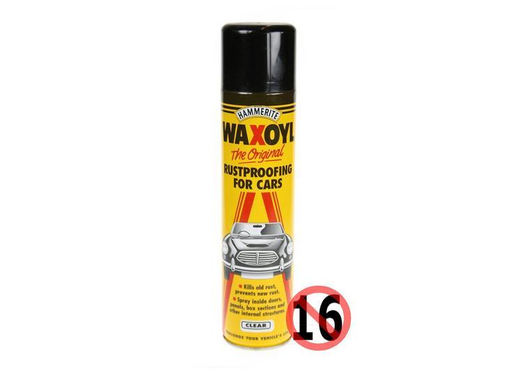 Hammerite Waxoyl Rustproofing for Cars Aerosol 400ml Clear