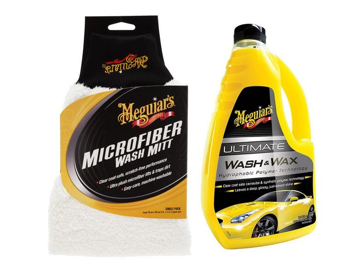 Meguiars Microfibre Mitt & Ultimate Wash Bundle