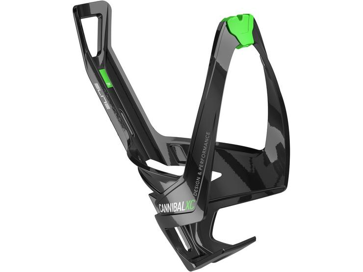 Cannibal XC bottle cage gloss black / green