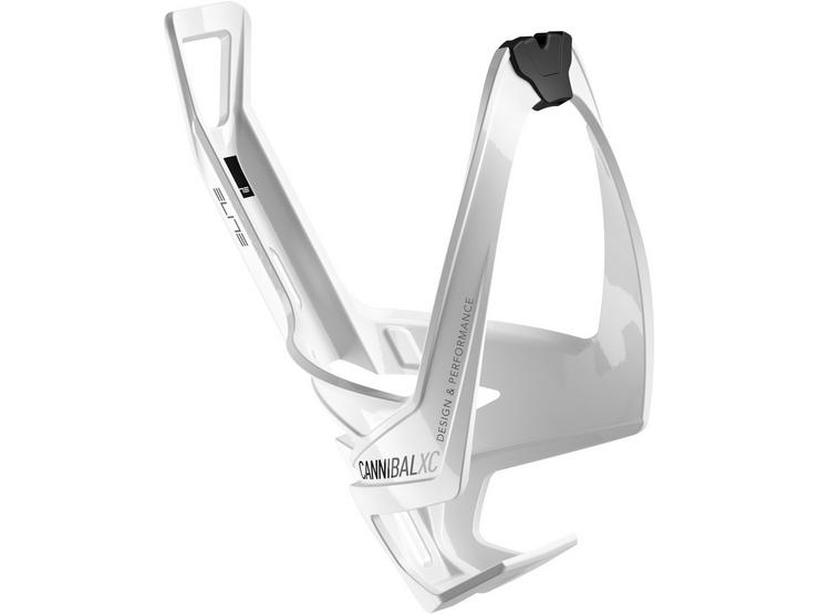 Cannibal XC bottle cage gloss white / black