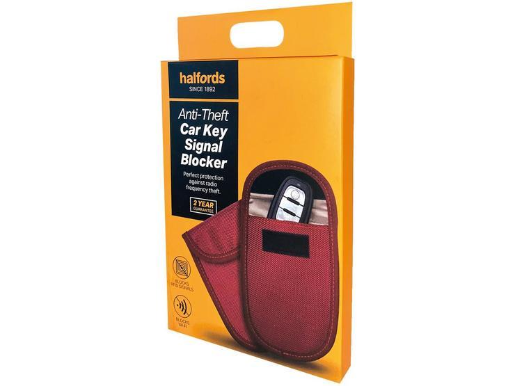 Halfords Anti-Theft Car Key Signal Blocker - Red
