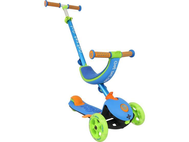 Trunki 4-in-1 Folding Kids Scooter - Blue