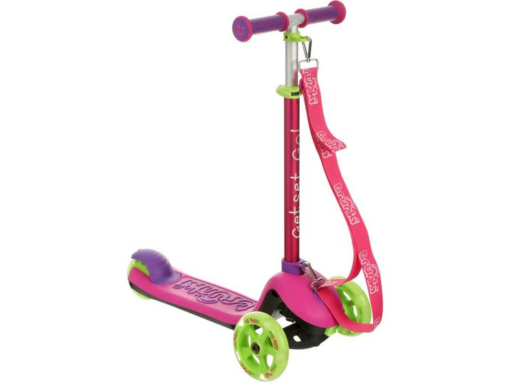 Trunki Small Folding Kids Scooter with Carry Strap - Pink