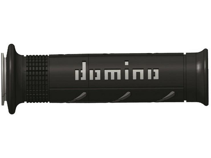 Domino XM2 Open End Motorcycle Grips - Black/Grey