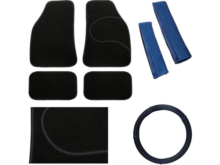 Essential Car Accessories Bundle - Blue