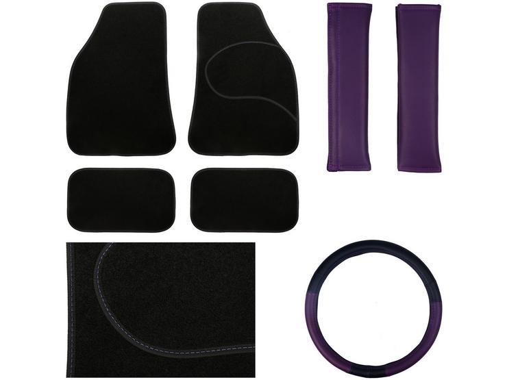 Essential Car Accessories Bundle - Purple