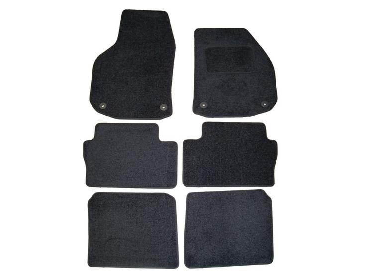 Halfords Advanced Fully Tailored Black Car Mats for Vauxhall Zafira 2006-14 When 7 Seats Set Up