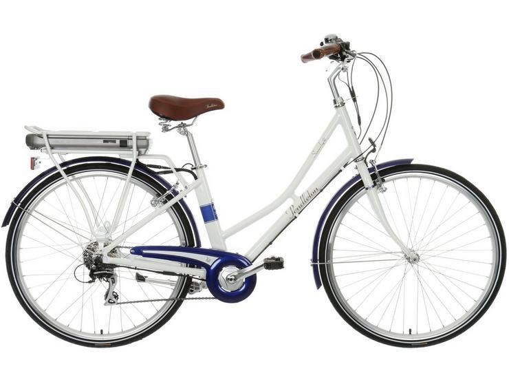 "Pendleton Somerby Electric Hybrid Bike - White and Navy - 17"", 19"" Frames"