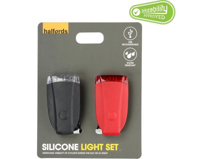 Halfords Silicone Bike Light Set