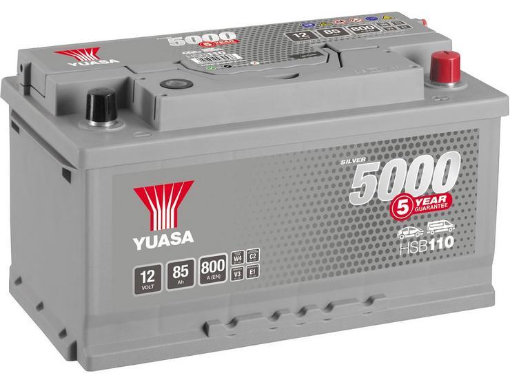 Yuasa HSB110 Silver 12V Car Battery 5 Year Guarantee