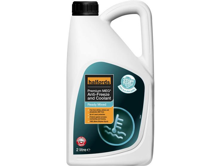 Halfords NAP-Free Hybrid Anti-Freeze and Coolant Ready Mixed - 2L
