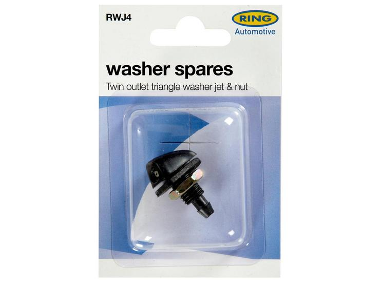 Ring Washer Spares - Twin Outlet Triangle Washer Jet & Nut RWJ4
