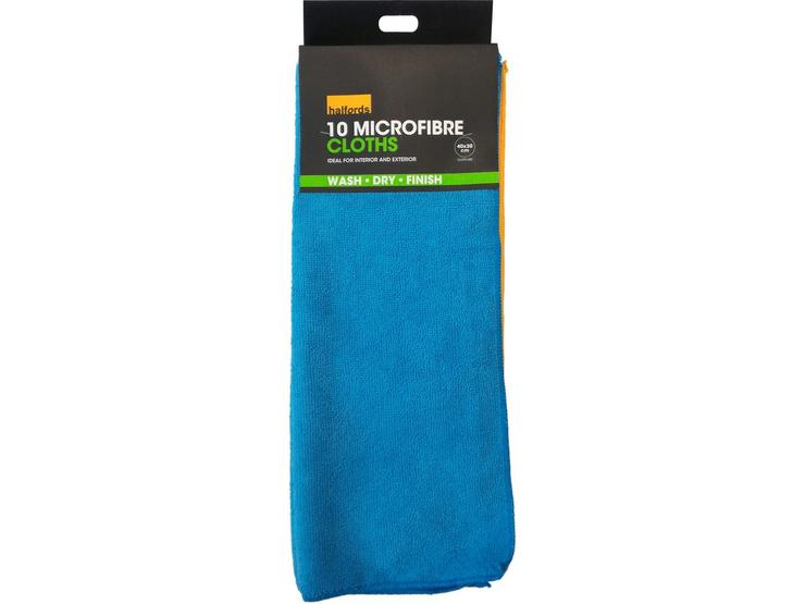 Halfords Microfibre Cloths 10 Pack