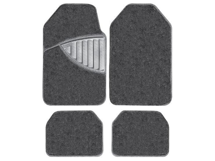 Michelin Premium 4 Piece Carpet Car Mat Set Black