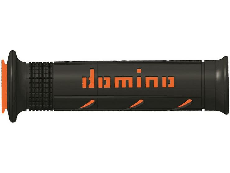 Domino XM2 Open End Motorcycle Grips Black/Orange