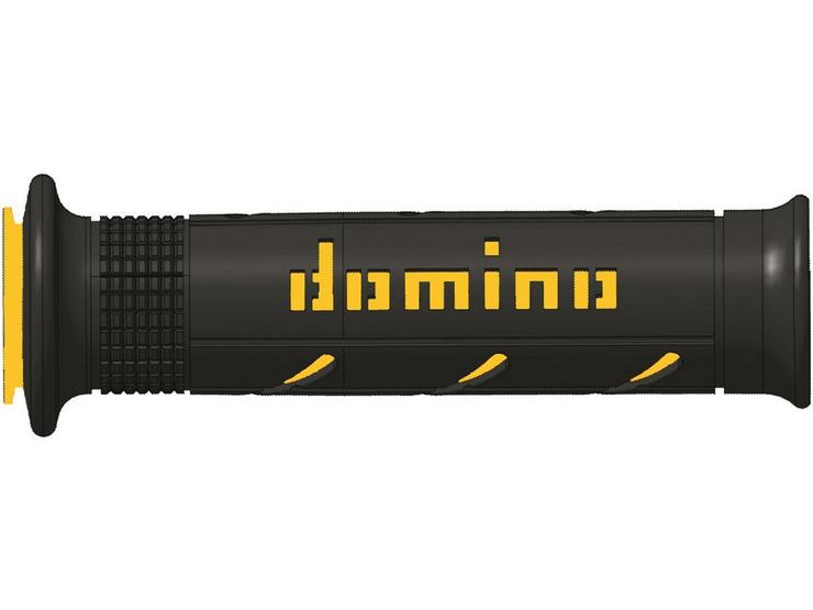 Domino XM2 Open End Motorcycle Grips Black/Yellow