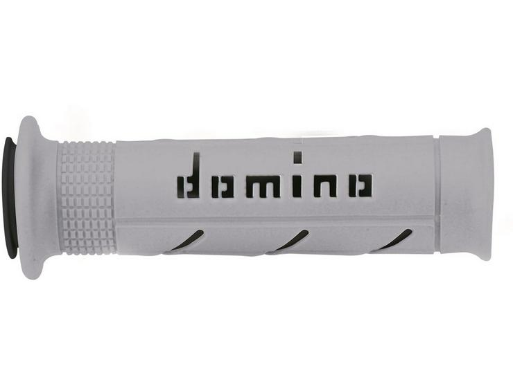 Domino XM2 Open End Motorcycle Grips Grey/Black