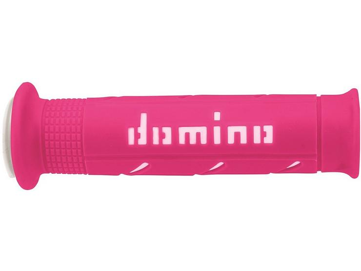 Domino XM2 Open End Motorcycle Grips Pink/White