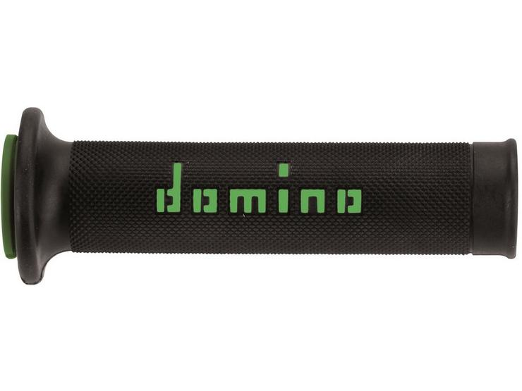 Domino RR Open End Motorcycle Grips Black/Green