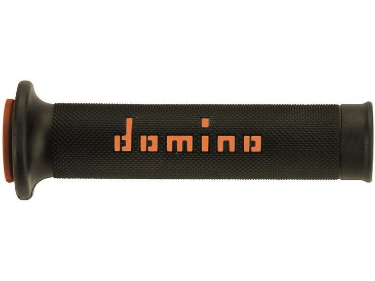 Domino RR Open End Motorcycle Grips Black/Orange