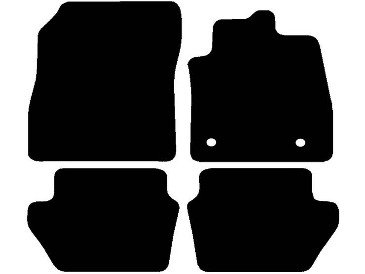 Halfords Ford Fiesta Mk8 - Set of 4 Standard Car Mats 2 Clips (EE0265)