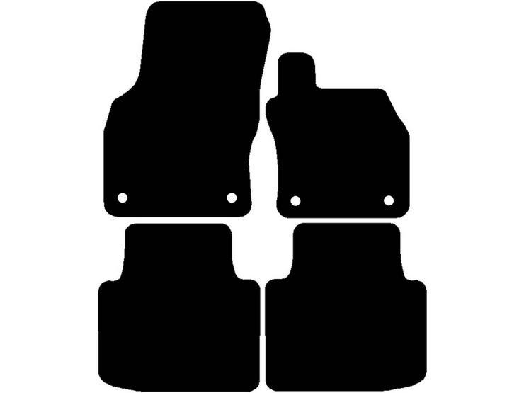 Halfords Skoda Superb - Set of 4 Standard Car Mats 4 Clips (EE0854)